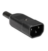 Conector Ac Tata Montare Pe Cablu 10a Negru