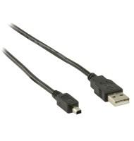 Cablu USB2.0 USB A Tata - Mini USB 4p Tata 1.8m Well
