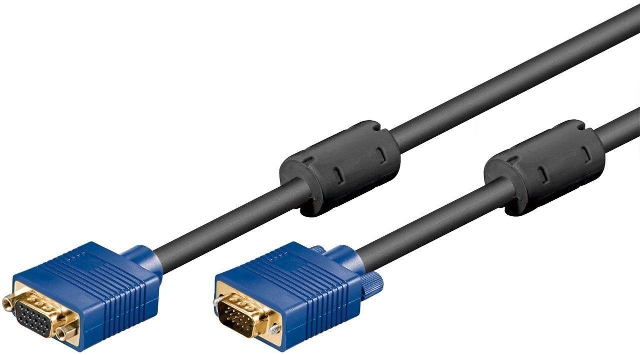 Cablu Prelungire Vga Tata-vga Mama 15 Pini 10m, Goobay