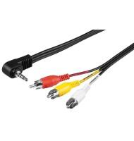 Cablu Audio Jack 4p 3.5mm Tata - 3x RCA 600Tata 1.5m