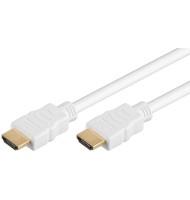 Cablu HDMI-a - HDMI-a Hispeed cu Ethernet 2m Alb G