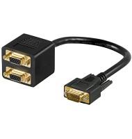 Cablu Adaptor Vga Tata - 2x Vga Mama,goobay