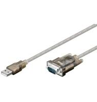 Cablu Convertor Serial Rs232 9p Sub-d Tata La USB A Tata 1.5m