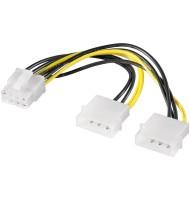 Cablu de Alimentare 2x 5.25 - Pci Express 8p 0.15m