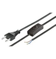Cablu de Alimentare Euro La 2 Fire cu Intrerupator 1.5m