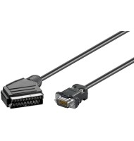 Cablu Scart Tata - Vga Tata 2m