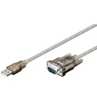 Cablu Convertor USB Tata La Serial Rs232 9p D-sub 1.5m Goobay