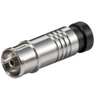 Coaxial Compression Jack - For Cables With An Outer Diameter Of 7 mm, Metal