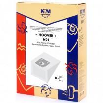 Sac Aspirator Hoover H7, Hartie, 5x Saci, K&M