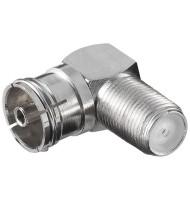 Adaptor F La Coaxial 9.5mm Mama 90grade