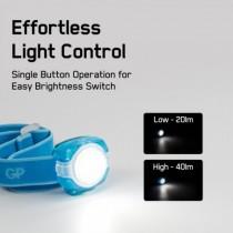 Lanterna Frontala Led Discovery GP Ch31, Albastru, 40lm, 2xcr2025