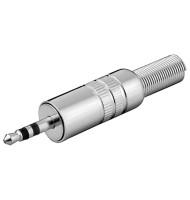 Mufa Tata 3,5 mm, Stereo, Metal, cu Protector Cablu