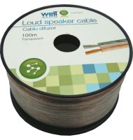Cablu Difuzor Transparent 2x0.35mmp, 100m, Well