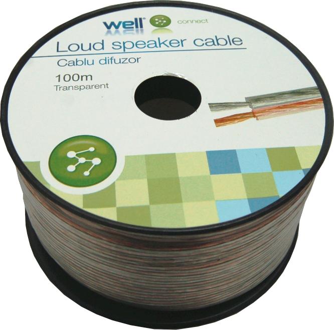 Cablu Difuzor Transparent 2×0.35mmp, 100m, Well