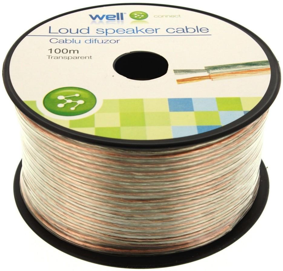 Cablu Difuzor Transparent 2×0.50mmp, 100m, Well