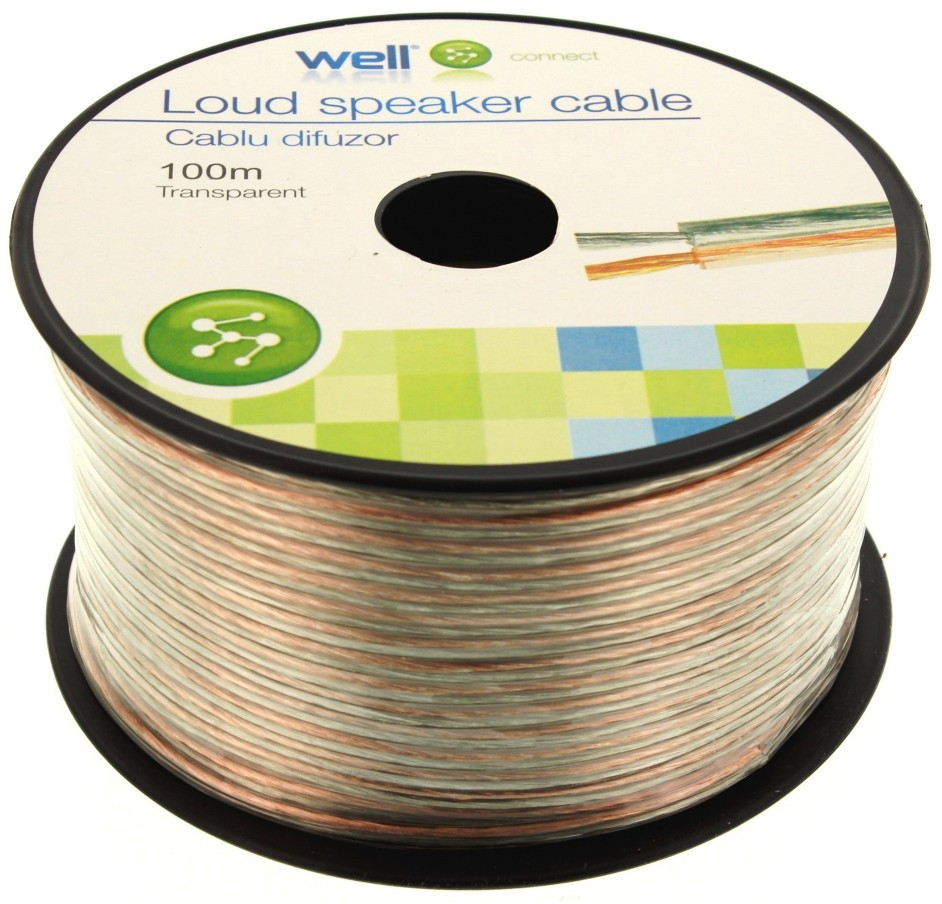 Cablu Difuzor Transparent 2×1.00mmp, 100m, Well
