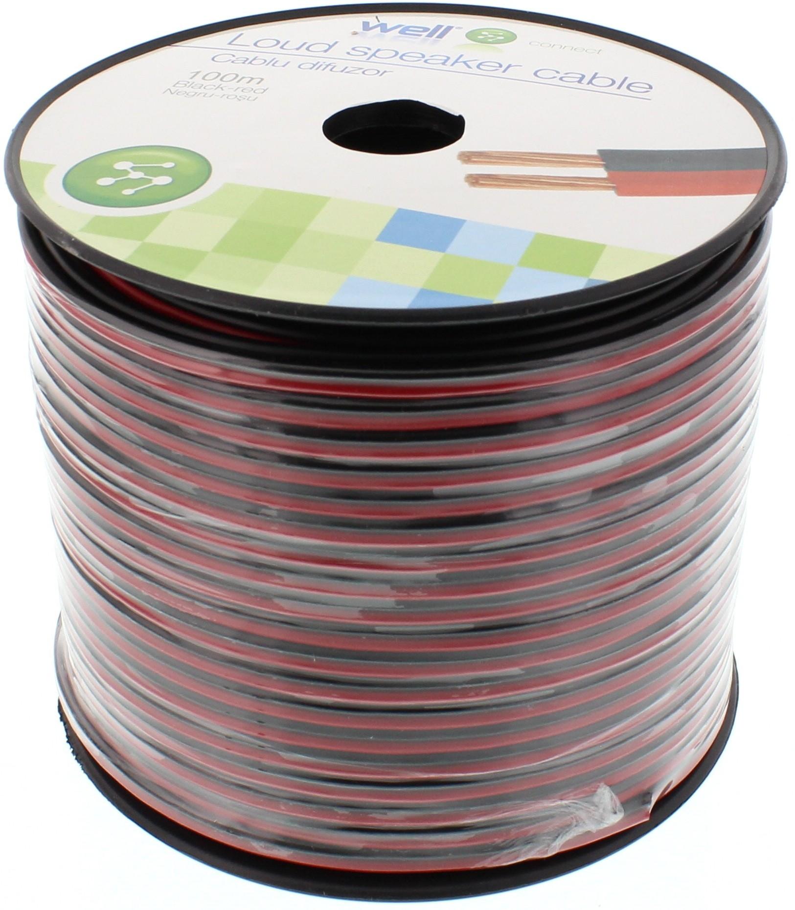 Cablu Difuzor Rosu/negru 2×1.50mmp, 100m, Well