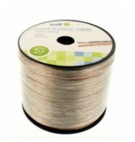 Cablu Difuzor Transparent 2x1.50mmp, 100m, Well