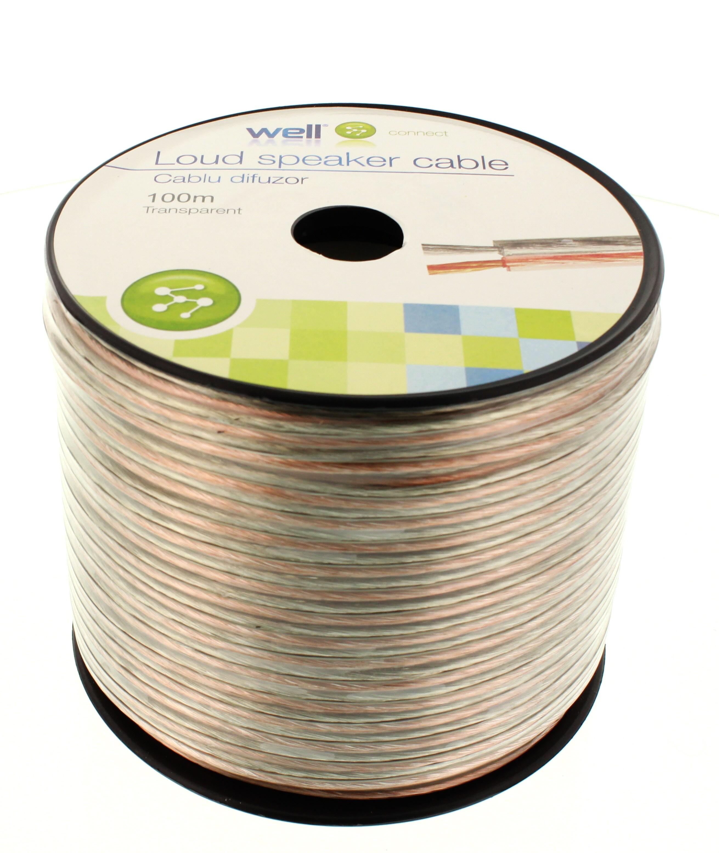 Cablu Difuzor Transparent 2×1.50mmp, 100m, Well
