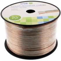 Cablu Difuzor Transparent 2x2.00mmp, 100m, Well