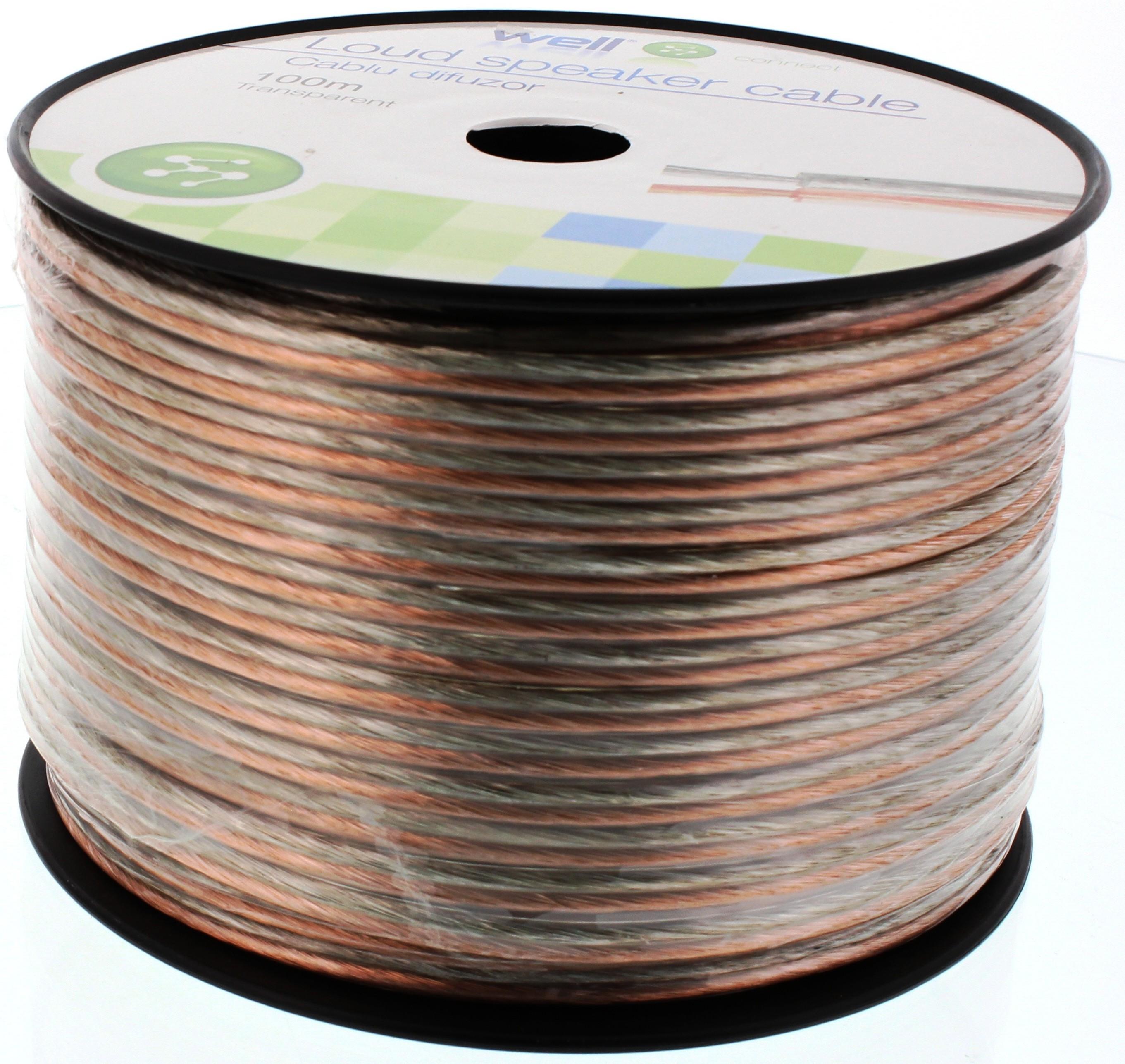 Cablu Difuzor Transparent 2×2.50mmp, 100m, Well