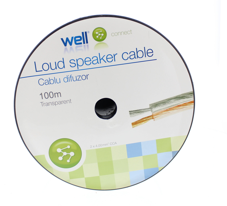 Cablu Difuzor Transparent 2×4.00mmp, 100m, Well
