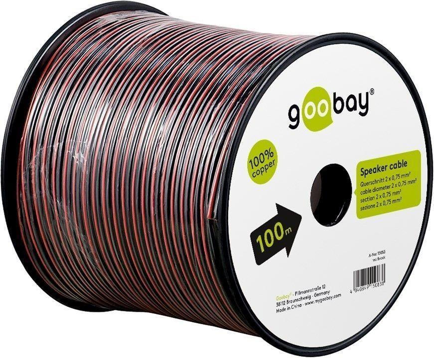 Cablu Difuzor Rosu/negru 2×0.75, Cupru 100m Pe Tambur