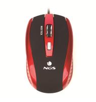 Mouse Optic USB 800/1600dpi Rosu/negru, NGS