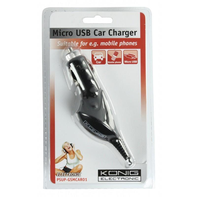 Incarcator Auto MicroUSB 1.0 A Konig