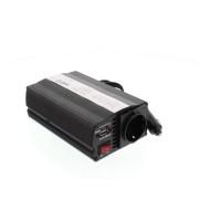 Invertor de Tensiune 24V -  220V, USB, 600W, Well