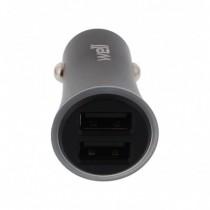 Alimentator USB Bricheta Auto 2 Iesiri 2.4a Metal Negru Well