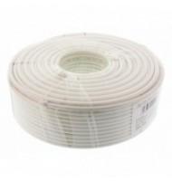 Cablu Coaxial Rg6, Fire Otel Cuprat, TrIPlu Ecranat, 64x0.12mm Al+folie Al, 100m/rola