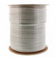Cablu Coaxial Rg6, Fire Otel Cuprat, TrIPlu Ecranat, 64x0.12mm Al+folie Al, 305m/rola