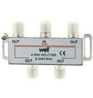 Spliter CaTV 4 Cai 2450 Mhz Well