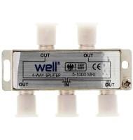Spliter CaTV 4 Cai 1000 Mhz Well