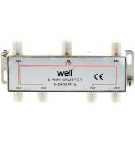 Spliter CaTV 6 Cai 2450 Mhz Well