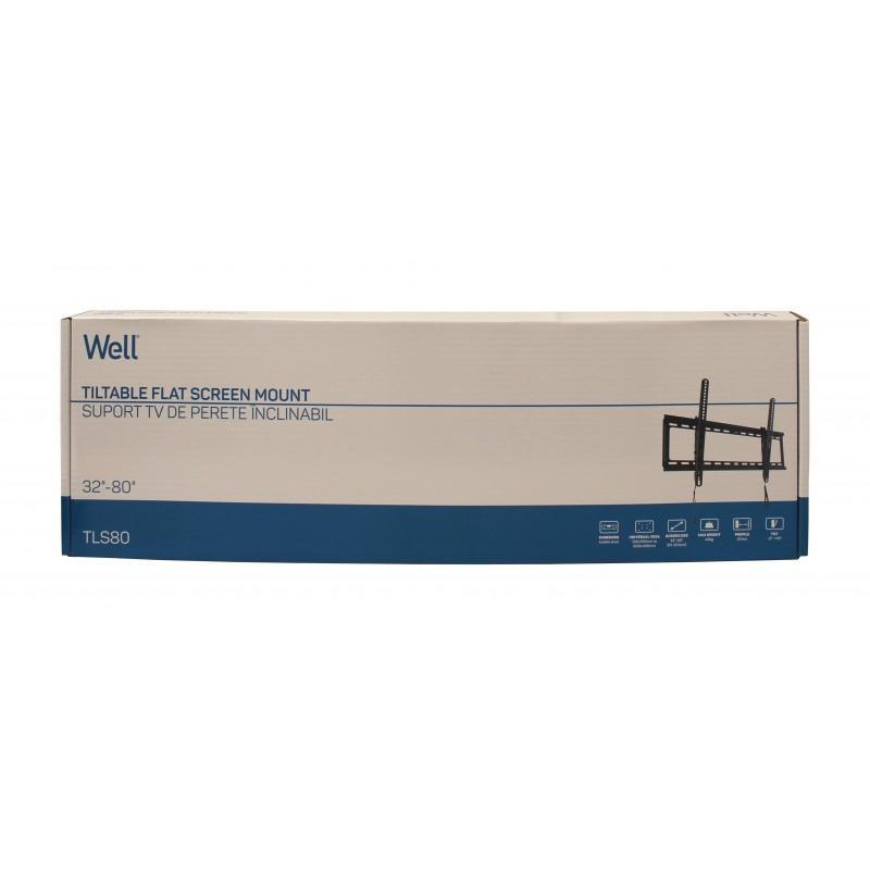 "Suport TV LCD de Perete 32""-80"" Inclinabil cu Snur Well"