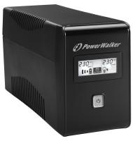 UPS Line Interactiv 850VA/480W, Iesire 2xshuko, Baterie 12v/9ah Powerwalker