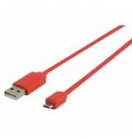 Cablu USB2.0 A Tata - Mico B Tata, 1m, Rosu