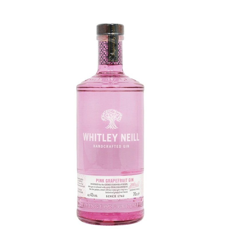 Gin Pink Grapefruit Whitley Neill, Alcool 43%, 0.7L