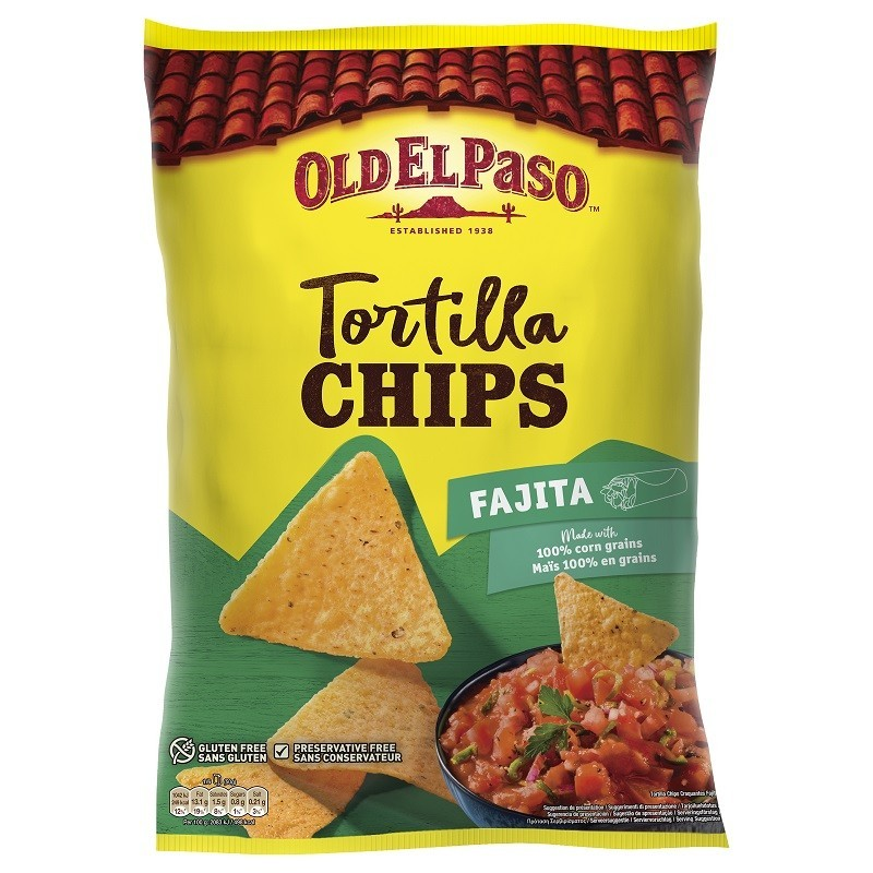 Old El Paso - Tortilla Chips Fajita 185g