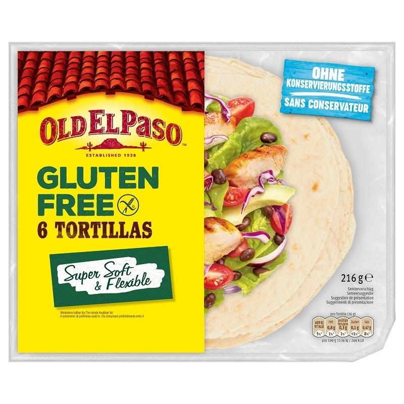 Old El Paso - Tortillas Lipie Fara Gluten 6buc 216g