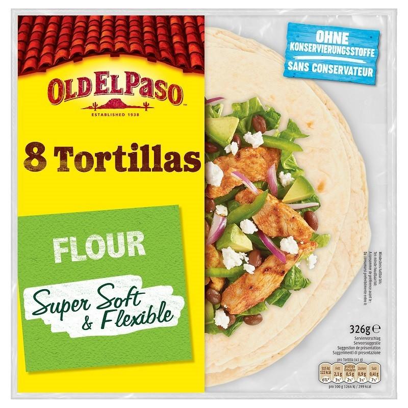 Old El Paso - Tortilla Wrap 8buc 326g