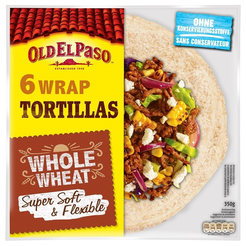Old El Paso - Tortillas Lipii Integrale 6buc 350g