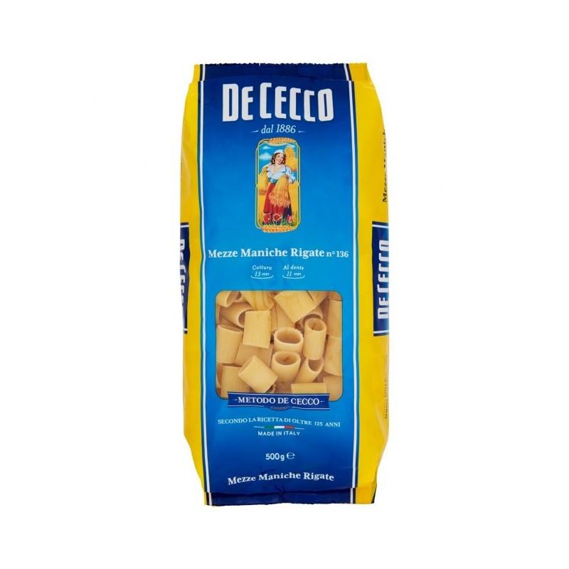 De Cecco - Paste Mezze Maniche Rigate 500g