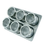Set Condimente , 6 Recipiente cu Suport Magnetic , Grunberg Gr329