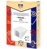 Sac Aspirator Philips Sydney, Hartie, 6 x Saci + 2 Filtre, K&M