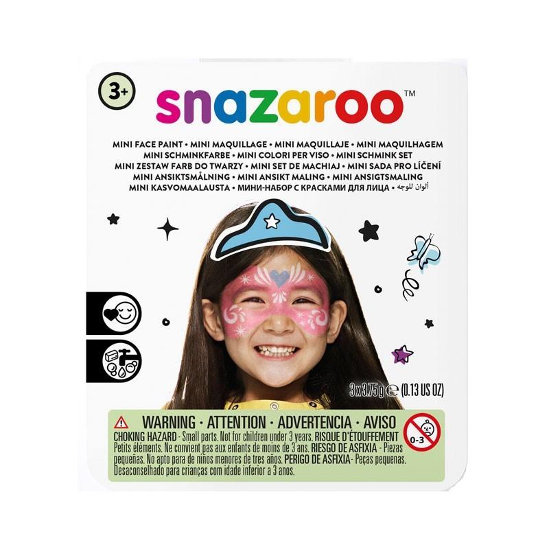 Set Pictura pe Fata Festive Mask, 3 Culori, Snazaroo