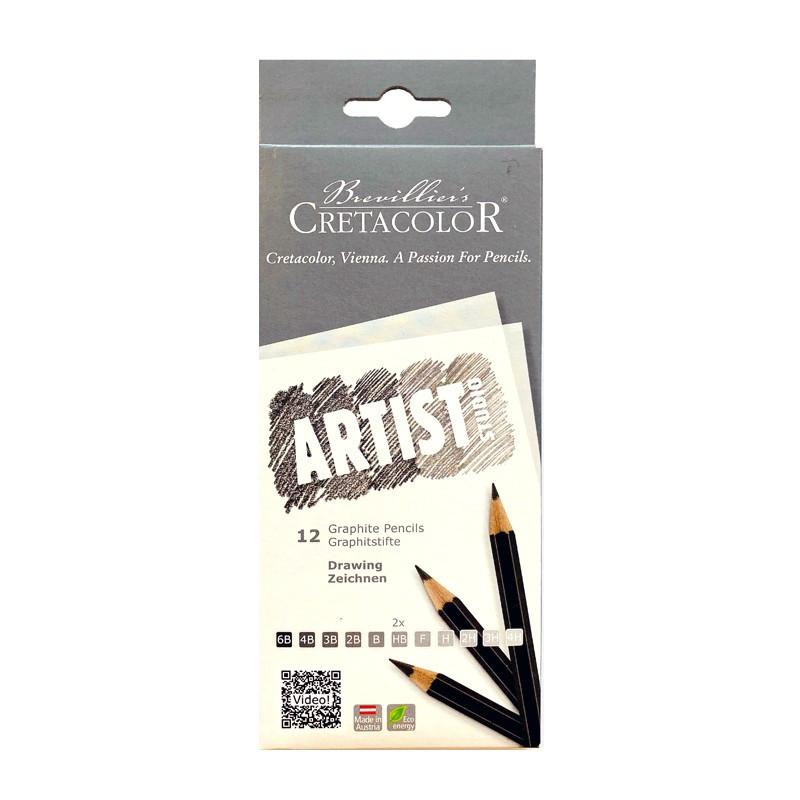 Set 12 creioane Graphite Cretacolor