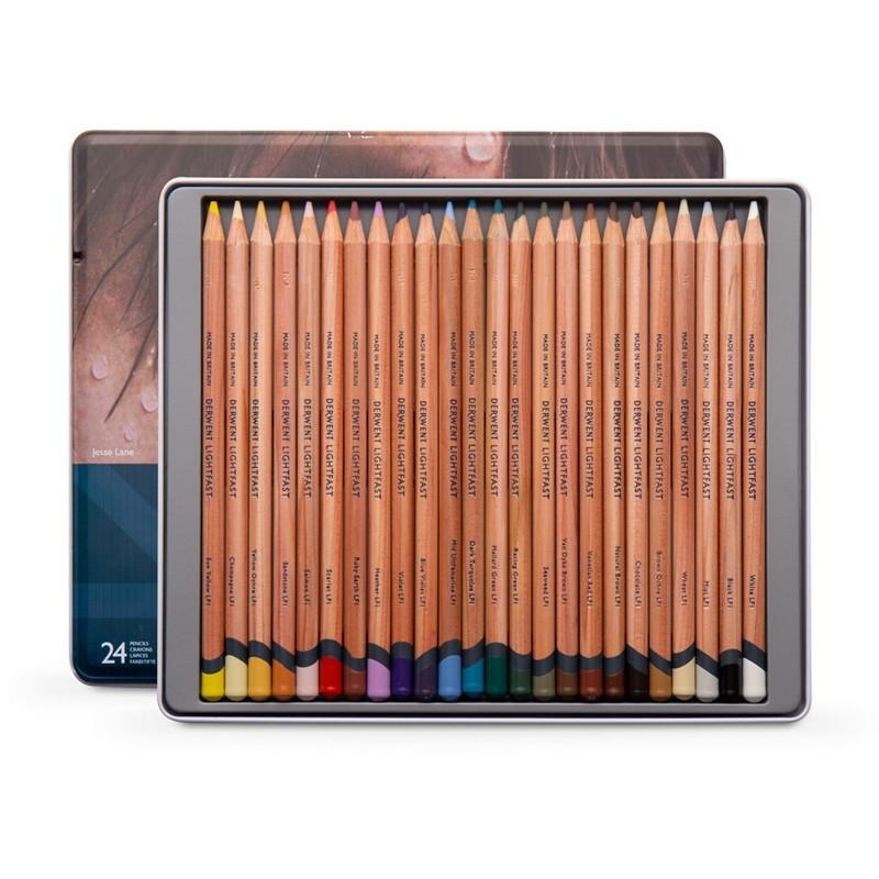 Set 24 creioane colorate Lightfast Derwent